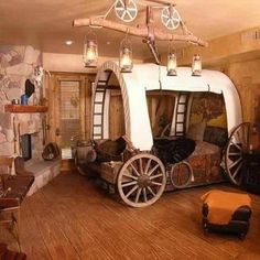 Covered Wagon Bedroom bedroom home cowboy decorate wagon covered novelty western interior design
