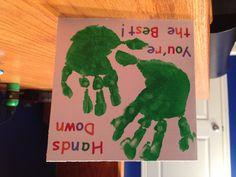 Handprint Card for Daddy's Birthday!