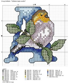 alfabeto degli uccellini: A