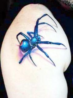 Spider Tattoo Designs | Blue Spider Tattoo