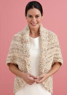 Simple Crochet Shrug - Lion Brand Yarn