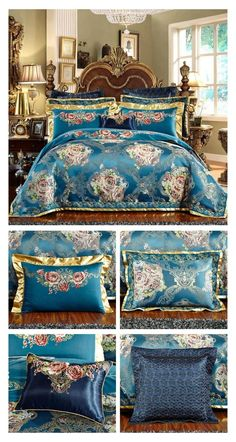 This Beautiful Luxury Bedding Set in Blue Color is specially designed for your Master Bedroom Decor Ideas so that you can create the perfect bed for yourself. This special bedding set with beautiful design patterns on the Duvet Cover and Pillowcases will create a more luxury and comforting sleeping environment for you. Now upgrade your bedroom decor with minimum effort simply by changing your bedding set. #luxury #blue #Bedding #beddingset #duvetcover #duvet #bed #bedroom