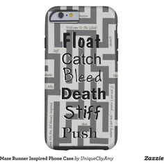 Maze Runner Inspired Phone Case ($45) ❤ liked on Polyvore featuring accessories and tech accessories