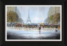April In Paris 1 - Painting by Jeff Rowland #art