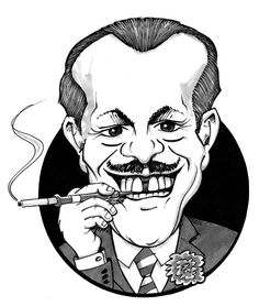 Terry Thomas caricature by Tony Johnson