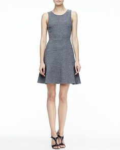 Nikay Flared Tweed Dress by Theory at Neiman Marcus.
