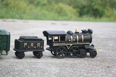 Vintage Cast Iron Pennsylvania Railroad P R R Train Set | eBay