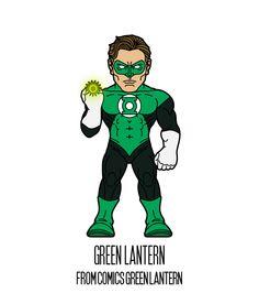 GREEN LANTERN  http://herosandvillains.tumblr.com/post/12234721715 by TM
