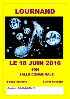 Fête de la musique à Lournand le 18 juin 2016 : http://clun.yt/1UfSs9u