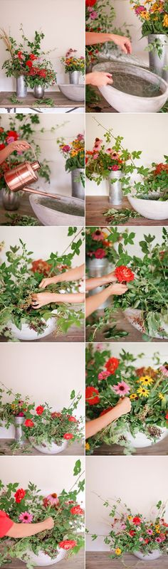 Easy to follow DIY Summer Floral Centerpiece tutorial for brides who want to save money on their weddings! #savemoneyonweddings #diyweddingdecor #weddingdetailshowto #weddingfloral #diyweddingfloralarrangements
