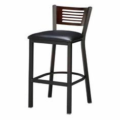 Have to have it. Regal Honors Slat Back 30 in. Metal Bar Stool with Wood Back $189.99