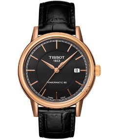 TISSOT Carson Powermatic 80 Automatic Gold Brown Leather Strap