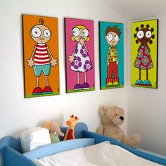 illustrator from Nantes Painting For Kids, Painting & Drawing, Art For Kids, Cartoon Drawings, Cute Drawings, Diy Canvas, Canvas Wall Art, Kids Room Paint, Illustrator