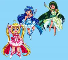 Lucia, Hanon et Lina All The Princesses, Anime Mermaid, Mermaid Melody, Merfolk, Manga Girl, Magical Girl, Aesthetic Anime, Shoujo, Pitch
