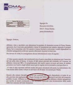 29/09/14 Solo per dovere di verità. La lettera della società TPL di Roma che ha sospeso i due autisti per aver denuinciato a #PresaDiretta lo stato pietoso dei mezzi (LEGGI)
