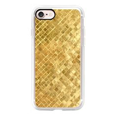 Golden Weave - iPhone 7 Case, iPhone 7 Plus Case, iPhone 7 Cover,... ($40) ❤ liked on Polyvore featuring accessories, tech accessories, iphone case, iphone cases, iphone cover case and apple iphone cases