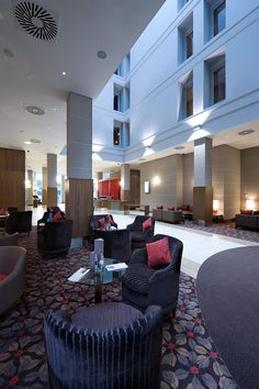 Modern Hotel | Radisson Blu Hotel interior design by Ward Robinson | Durham | Reception
