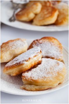 Racuchy na kefirze #pancakes Polish Desserts, Polish Recipes, Sweet Recipes, Cake Recipes, Dessert Recipes, Cranberry Orange Bread, Good Food, Yummy Food, Breakfast For Kids