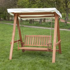 Wooden Swing Seat for 2