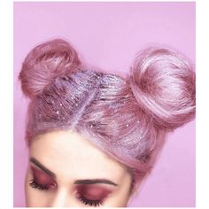 Glitter roots hair trend Taking over the Internet with magic sparkles! ❤ liked on Polyvore featuring beauty products, haircare, hair, hairstyles, photos, backgrounds and beauty