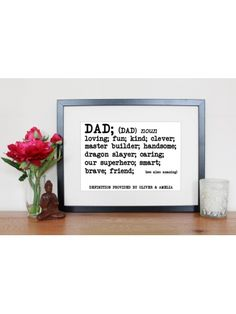 Father's Day Dad Definition Print