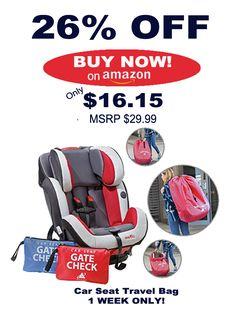 Car Seat Travel Bag 1 Week Only