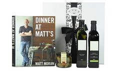 Renowned chef Matt Moran shares his favourite dinner-party menus for any occasion. Start with oysters two ways, a classic mushroom consomme or a stunning beetroot-cured ocean trout, then work your way through to mains that will satisfy any appetite Gift Hampers, Gift Baskets, Mens Kitchen, Pamper Hamper, Dinner Party Menu, Gourmet Gifts, Beetroot, Trout, Thoughtful Gifts