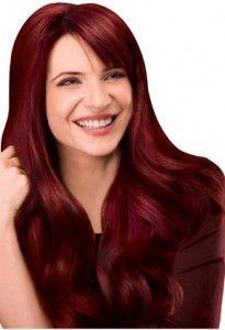 dark red hair