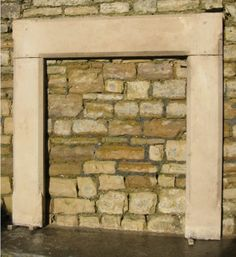 19th Century Painswick stone Gothic Revival fireplace frame for sale on SalvoWEB from Wharton Antiques in Somerset [Salvo code dealer