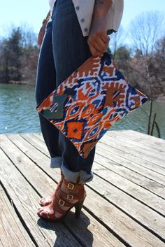 Loving my 'Tangerine Dream' clutch.