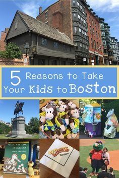 5 Reasons to take your kids to Boston: Great ideas for a family vacation in New England.