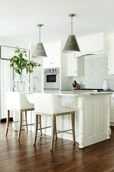 greige: interior design ideas and inspiration for the transitional home : white and bright kitchen