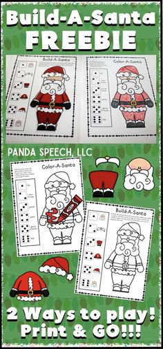 Open ended fun for any lesson! Use in speech therapy, the classroom, or in counseling sessions! Speech Therapy Activities, Language Activities, Learning Activities, Teaching Ideas, Speech Language Pathology, Speech And Language, Christmas Activities, Winter Activities, Christmas Maths