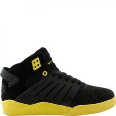 Brand New In Box Supra SKYTOP III Mens Shoe Black Mesh/Neon Yellow - #Sneakers