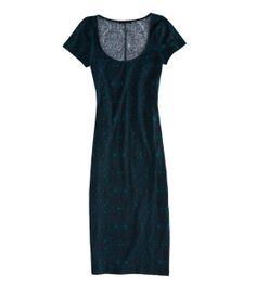 AE Printed Bodycon Midi Dress