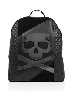 "PHILIPP PLEIN Backpack ""Vehuiah"". #philippplein #bags #leather #lining #backpacks #"
