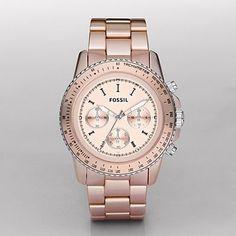 FOSSIL® Watches Aluminum Watches:Womens Stella Large Aluminum Watch - Blush CH2707 - StyleSays
