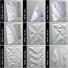 Forma 3d Placa Gesso - Ref.47 - 41x41 Cm Plástico + Eva - R$ 30,00 em Mercado Livre Wall Panel Design, Wall Tiles Design, 3d Wall Panels, Ceiling Design, Creative Wall Decor, Creative Walls, 3d Wanddekor, Arabic Decor, Modern Tv Wall Units