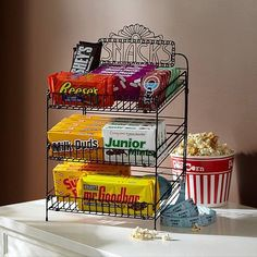 Set up your own concession stand. You can buy candy for a dollar at Walgreens! I saw it yesterday. #rsvpshindig
