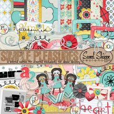Simple Pleasure Free Digital Scrapbook Kit Download