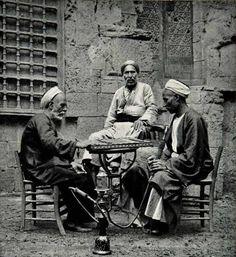 Men smoking #shiesha in #Cairo, #Egypt; 1938. #Islam #Sufism #Spirituality