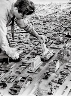 Model of Downtown Los Angeles 1940 #LA