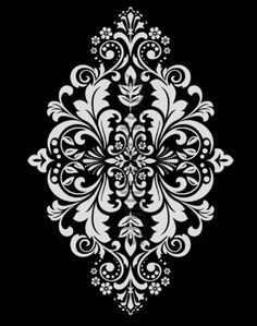 Stencils, Stencil Templates, Stencil Patterns, Stencil Painting, Stencil Designs, Embroidery Patterns, Damask Stencil, Arabesque, Window Glass Design