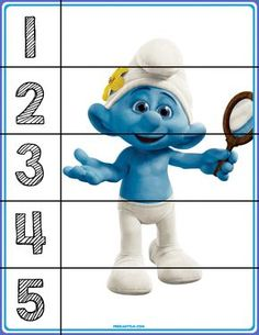 FREE! Smurfs Number Puzzles - Autism & Education
