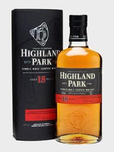 Highland Park 18 year old whisky - fragrant and fruity - ever the classic whiskey.  £56.95