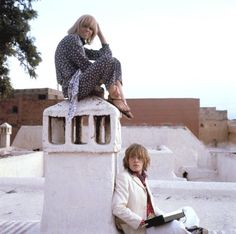 Brian Jones and Anita Pallenberg in Marrakech, 1967. Photo by Cecil Beaton.