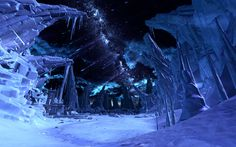Ilum, a planet once used by Jedi to provide natural lightsaber crystals. Usually Blue or Green, from the Crystal Caves.