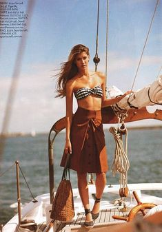 Model: Guisela Rhein  I like the style of her bikini top, Sailing - Seatech Marine Products & Daily Watermakers #yachtphotoshoot