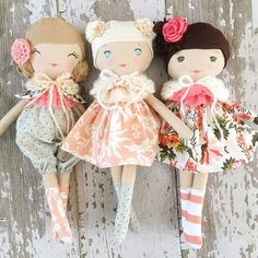 Getting all dolled up for next Saturday.  We will have 8 dolls in our #autumnskiescollection  restock on October 1st.  Such a pretty batch  #spuncandydolls #oct1restock #handmadedolls #etsyshop