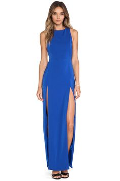 AQ/AQ Lexi Maxi Dress in Surf The Web Blue